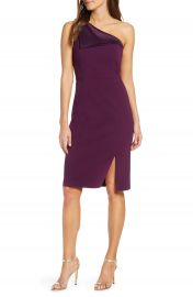 Vince Camuto One-Shoulder Crepe Sheath Dress   Nordstrom at Nordstrom