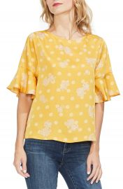 Vince Camuto Paisley Elbow Sleeve Top   Nordstrom at Nordstrom