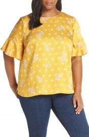 Vince Camuto Paisley Elbow Sleeve Top  Plus Size    Nordstrom at Nordstrom
