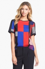 Vince Camuto Patchwork Top at Nordstrom