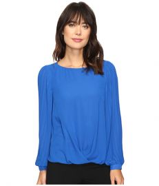Vince Camuto Pleated Sleeve Fold Over Blouse at 6pm