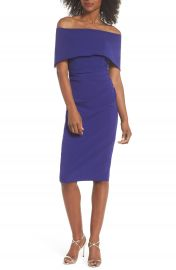 Vince Camuto Popover Midi Dress   Nordstrom at Nordstrom