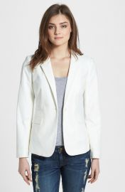 Vince Camuto Stretch Cotton One-Button Blazer  Regular   Petite at Nordstrom
