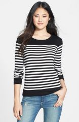 Vince Camuto Stripe Crewneck Sweater at Nordstrom