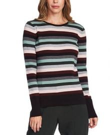 Vince Camuto Striped Sweater   Reviews - Sweaters - Women - Macy s at Macys
