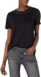 Vince Camuto Women s Studded Crewneck Tee at Amazon