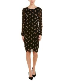 Vince Camuto Womens Paisley Long Sleeves Party Dress at Amazon