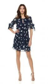 Vince Camuto Womens Shirred Fit and Flare Dress at Amazon