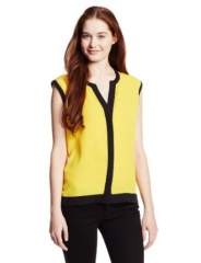 Vince Camuto colorblock top at Amazon