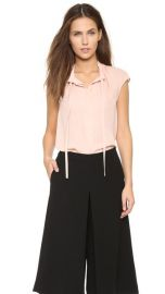 Vince Cap Sleeve Tie Blouse at Shopbop