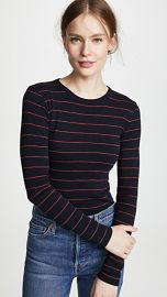 Vince Chalk Stripe Crew Tee at Shopbop