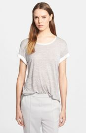 Vince Colorblock Roll Sleeve Tee at Nordstrom