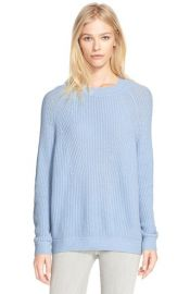 Vince Directional Rib Knit Wool and Cashmere Sweater at Nordstrom