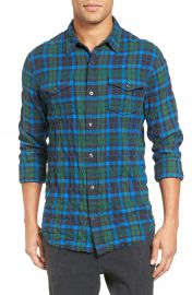 Vince Distressed Plaid Shirt at Nordstrom