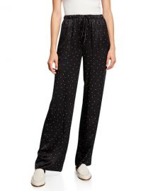 Vince Dot-Print Silk Pajama Pants at Neiman Marcus