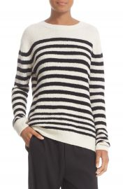 Vince Engineered Stripe Wool Blend Pullover at Nordstrom