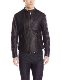 Vince Essential Leather Jacket at Amazon