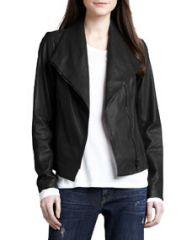 Vince Leather Scuba Jacket at Neiman Marcus