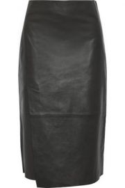 Vince Leather Skirt at The Outnet