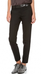 Vince Leather Waist Strapping Trousers at Shopbop