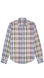 Vince Linen Plaid Sport Shirt at East Dane