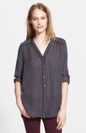 Vince Mini Geo Print Blouse at Nordstrom