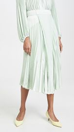 Vince Mixed Media Pleated Skirt at Shopbop