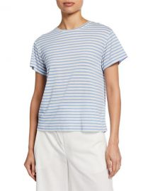 Vince Natural Avalon Stripe T-shirt at Last Call