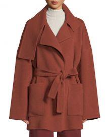 Vince Oversized Wool Blanket Coat at Neiman Marcus