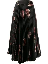 Vince Pleated Midi Skirt - Farfetch at Farfetch
