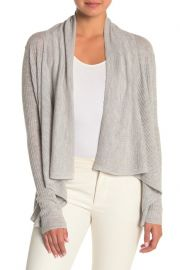 Vince Ribbed Open Front Wool Blend Cardigan at Nordstrom Rack