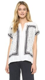 Vince Scarf Print Blouse at Shopbop