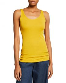 Vince Scoop-Neck Rib-Knit Tank at Neiman Marcus