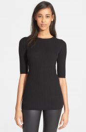 Vince Skinny Rib Crewneck Sweater at Nordstrom