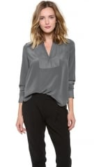 Vince Speed Stitch Tuxedo Blouse at Shopbop