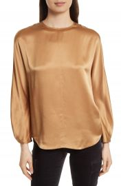 Vince Split Back Silk Blouse at Nordstrom
