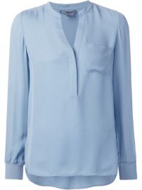 Vince Split Neck Tunic Top - Torregrossa at Farfetch