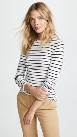 Vince Stripe Ribbed Crew Sweater at Shopbop