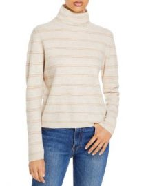 Vince Striped Cashmere Turtleneck Sweater Women - Bloomingdale s at Bloomingdales