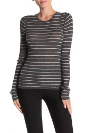 Vince Striped Ribbed Crew Neck Shirt at Nordstrom Rack