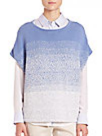 Vince Textured Sleeveless Cocoon Sweater at Saks Fifth Avenue