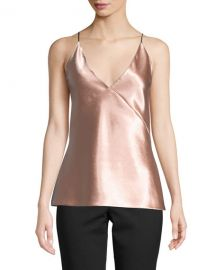 Vince V-Neck Satin Bias Cami at Neiman Marcus