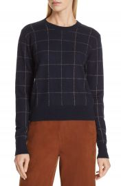 Vince Windowpane Check Cashmere Sweater   Nordstrom at Nordstrom