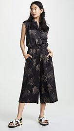 Vince Woodblock Floral Sleeveless Jumpsuit at Shopbop