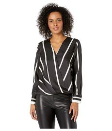 Vince camuto stripe blouse at Zappos