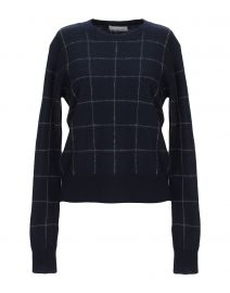 Vince check sweater at Yoox