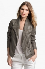 Vince leather scuba jacket at Nordstrom