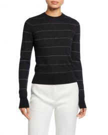 Vince striped fitted cashmere sweater at Neiman Marcus