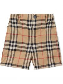 Vintage Check Cotton Poplin Tailored Shorts at Farfetch