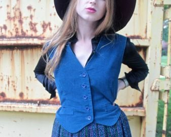 Vintage Corduroy Vest at Etsy